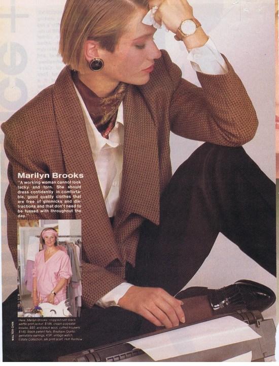 MARILYN BROOKS FLARE NOVEMEBER 1984