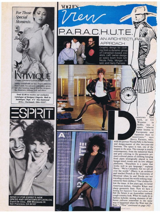 PARACHUTE VOGUE JULY 1982