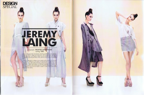JEREMY LAING DRESSED TO KILL SPRING 2013