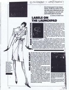 HILARY RADLEY FLARE SEPT 1986