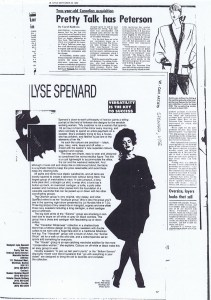 LYSE SPENARD 1986