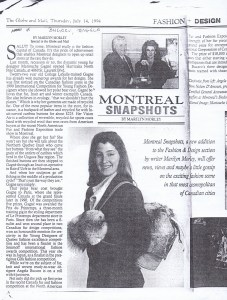 MARIE SAINT PIERRE GLOBE AND MAIL  14 07 1994