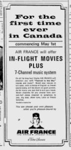 MTL GAZETTE AIR FRANCE 19 03 1966