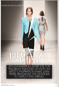 JEAN-PIERRE BRAGANZA REAL STYLE SPRING 2013