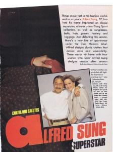 ALFRED SUNG CHATELAINE NOVEMBER 1985