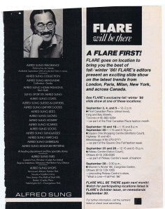 ALFRED SUNG FLARE SEPTEMBER 1986