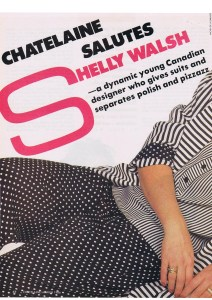 SHELLY WALSH CHATELAINE MARCH 1986