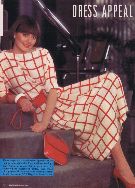 LINDA LUNDSTROM CHATELAINE MARCH 1983
