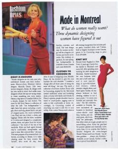 MARCELLE DANAN FLARE  SEPTEMBER 1991