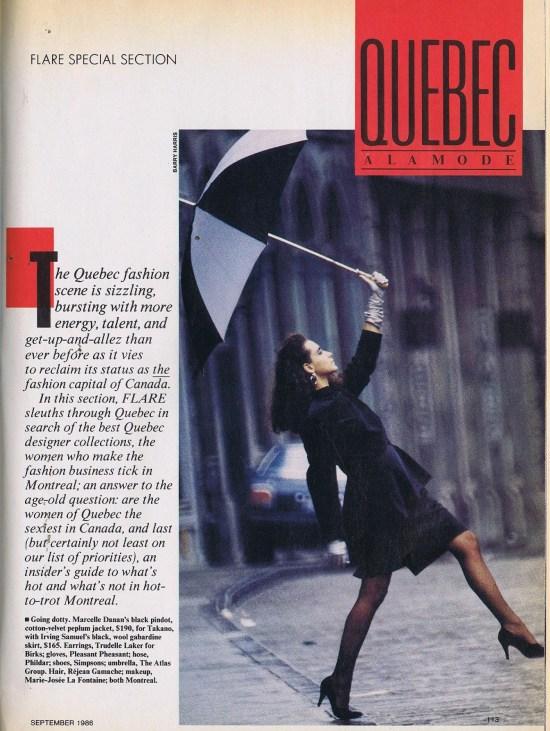 MARCELLE DANAN FLARE  SEPTEMBER 1986