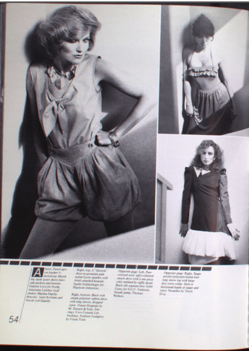 MARGARET GODFREY CANADA FASHION MODE 1982