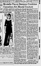 MARIELLE FLEURY  QUEBEC CHRONICLE TELEGRAPH FEBRUARY 17, 1966