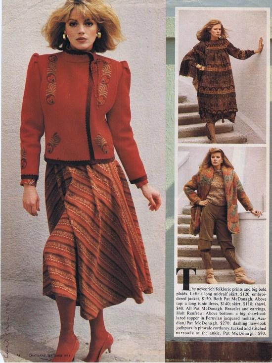 PAT MCDONAGH CHATELAINE SPETEMBER 1981