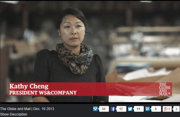 WS & COMPANY GLOBE AND MAIL DECEMBER 16, 2013