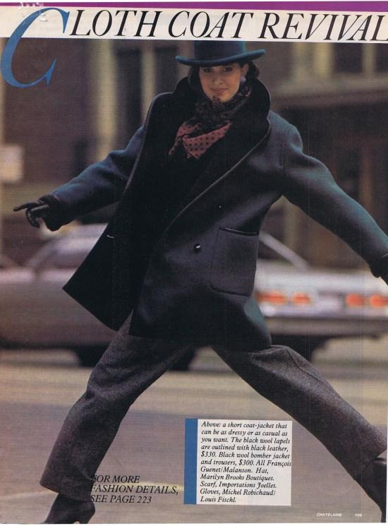 FRANCOIS GUENET CHATELAINE OCTOBER 1983