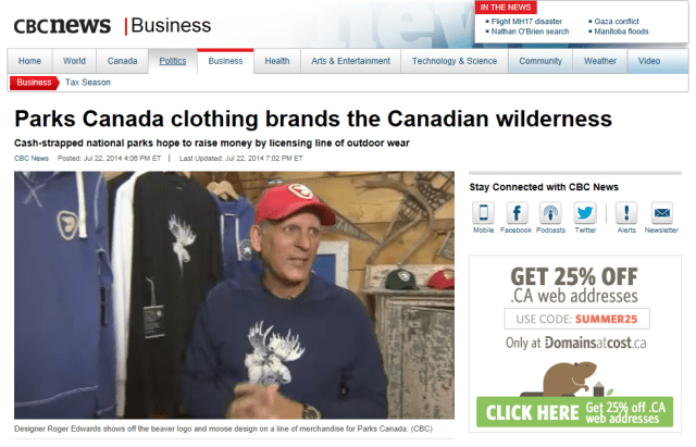 PARKS CANADA CBC JULY 24, 2014