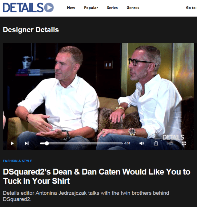 D SQUARED DEAN AND DAN CATEN DETAILS SEPTEMBER 12, 2014