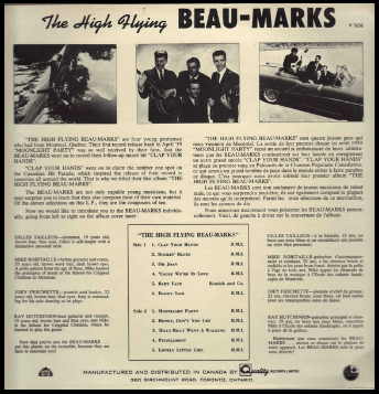 "THE BEAU-MARKS ""THE HIGH FLYING BEAU_MARKS"" 1960"