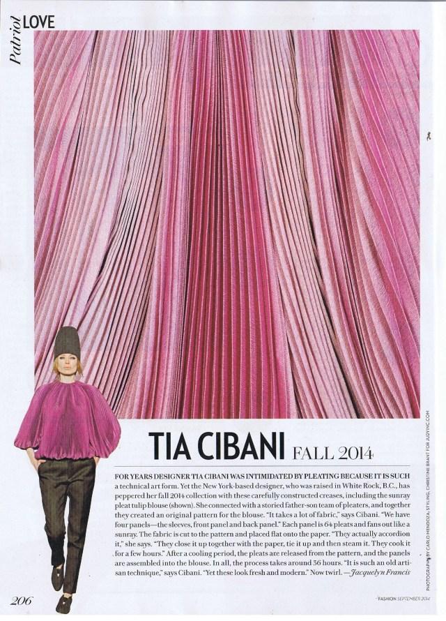 TIA CIBANI FASHION  SEPTEMBER 2014