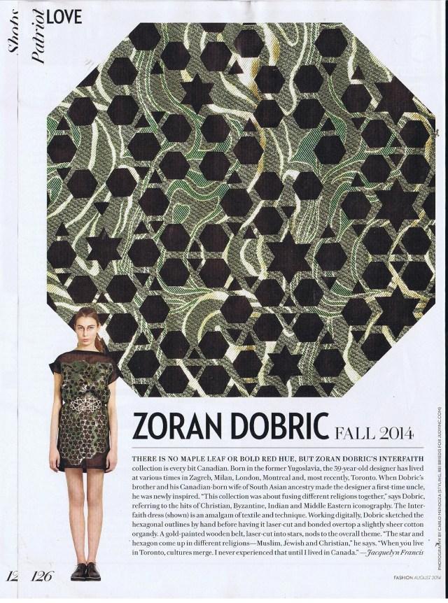 ZORAN DOBRIC FASHION AUGUST 2014