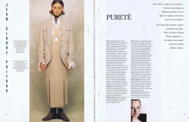 JEAN CLAUDE POITRAS CREATEURS QUEBEC CLIN D'OEIL FALL WINTER 1993 1994
