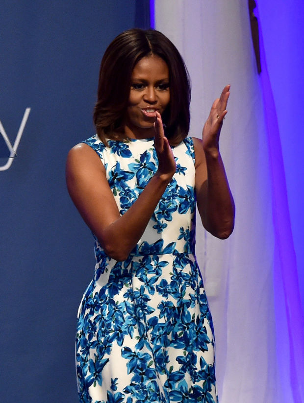 Michelle Obama in Tanya Taylor. Photo: Larry Busacca/Getty Images for NUVOtv