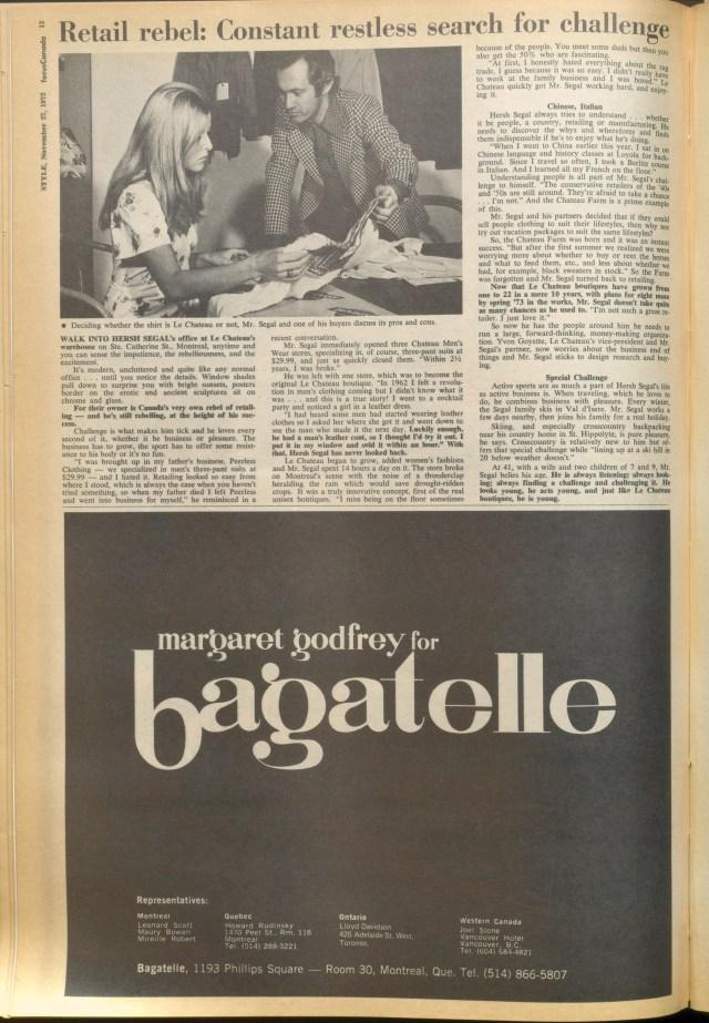 STYLE MAGAZINE NOVEMBER 1972