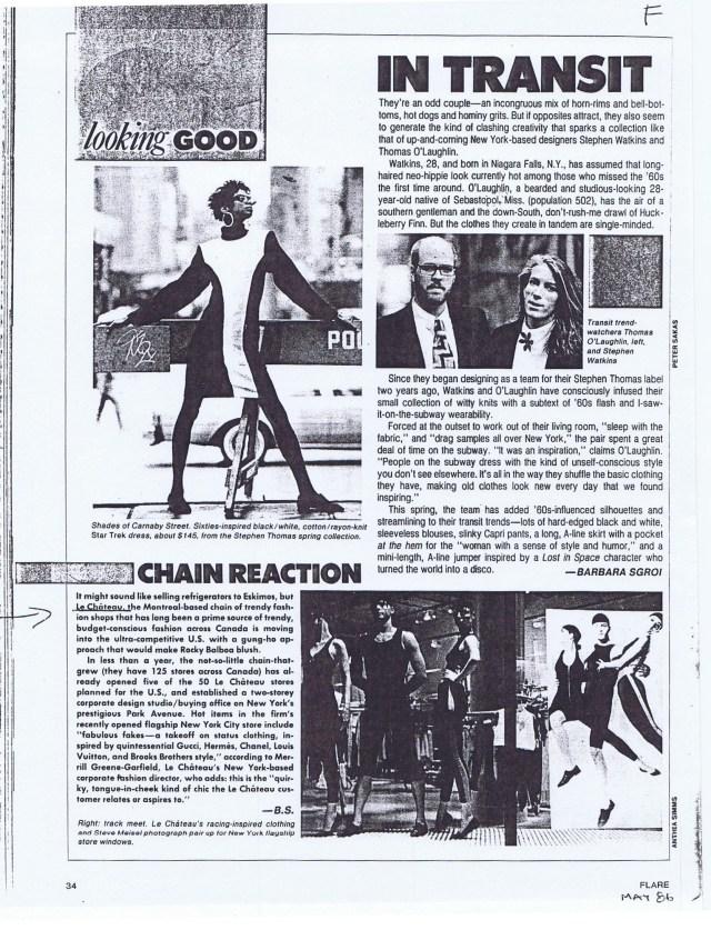 FLARE MAGAZINE MAY 1986