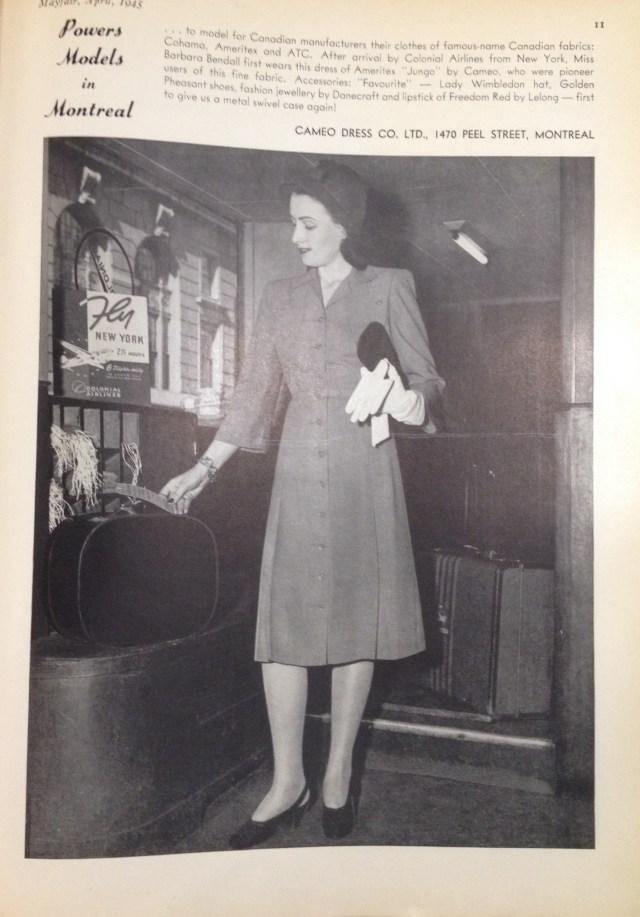 cameo dress ameritex fabric (cndn) mayfair april 1945