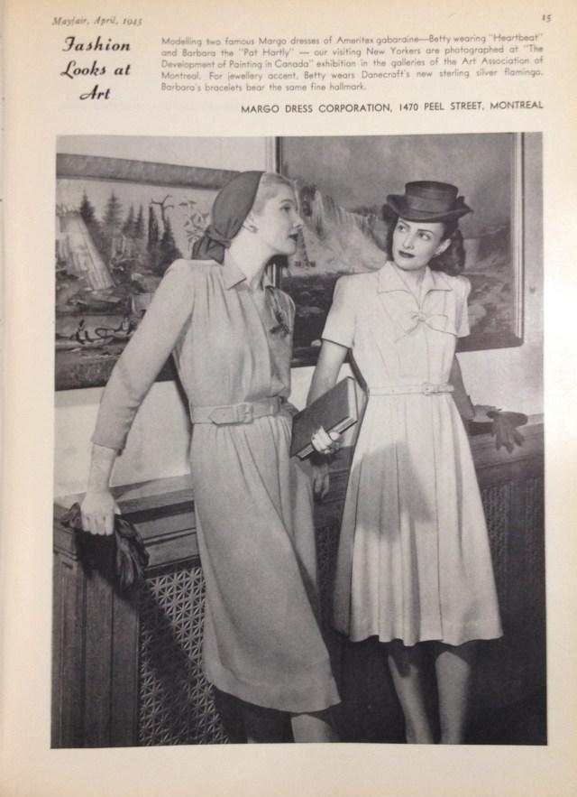 margo dress ameritex fabric (cndn) mayfair april 1945