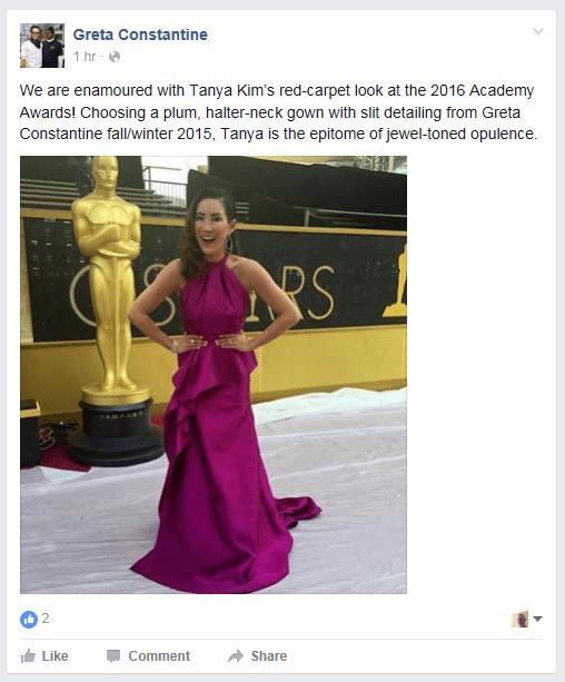 greta constantine Oscars 2016