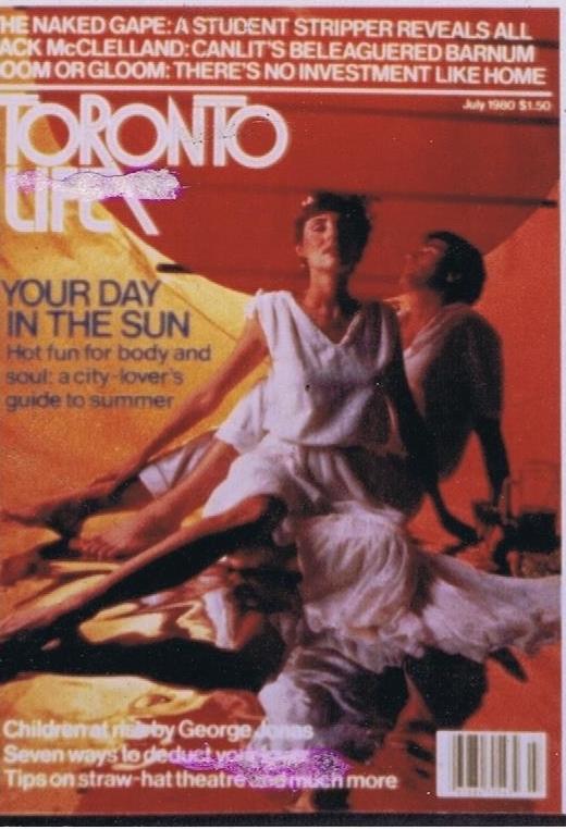 TORONTO LIFE MARIA HOYT JULY 1980