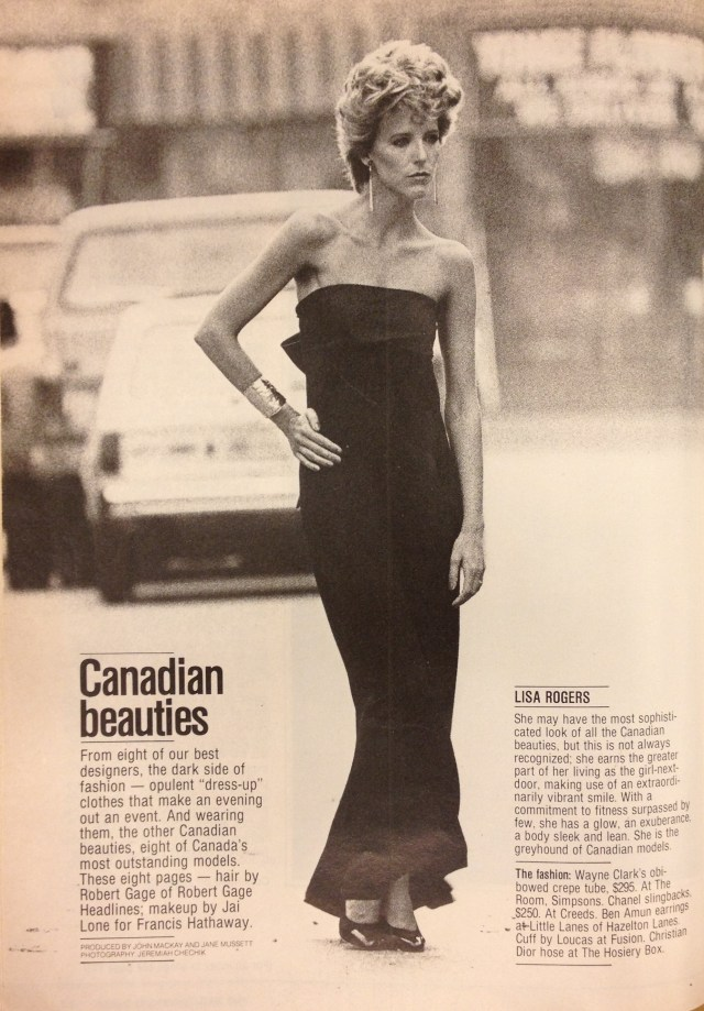 FASHION 1981 FALL MODELS 1 LISA ROGERS WAYNE CLARK