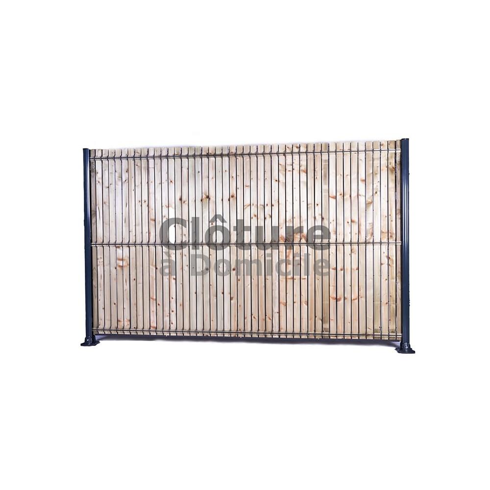 kit occultant en bois pour panneaux rigides discount hauteur 1 03 m