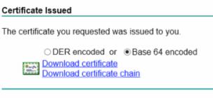 Certificate request