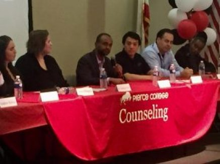 Cloud77 CEO Adrian Harper in a panel discussion with STEM professionals.