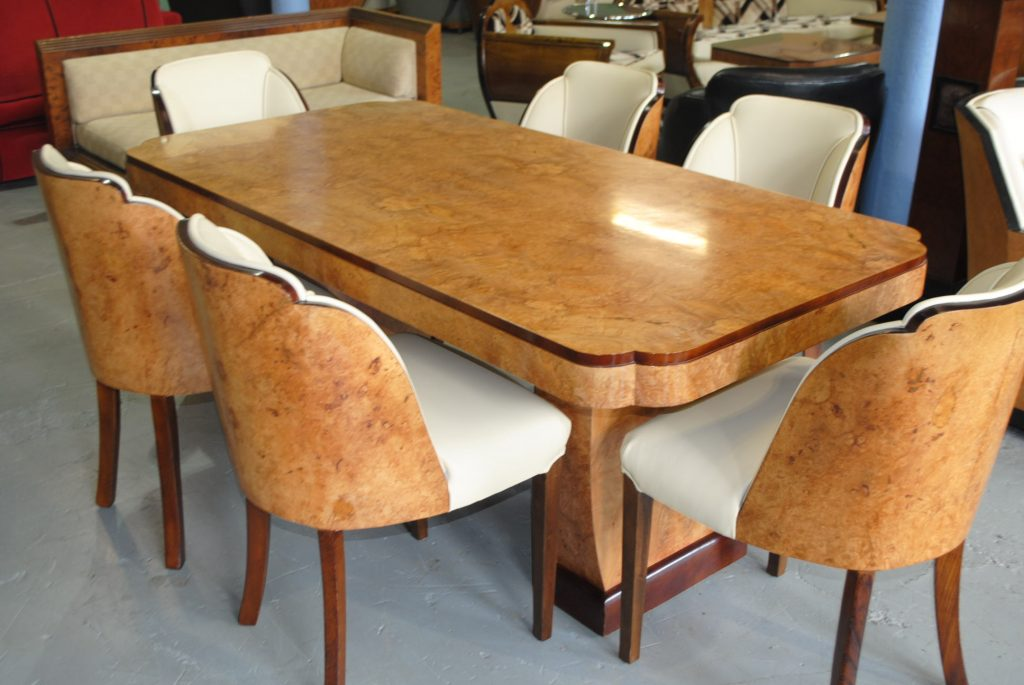 Art Deco Cloudback Dining Table And 6 Chairs Cloud 9