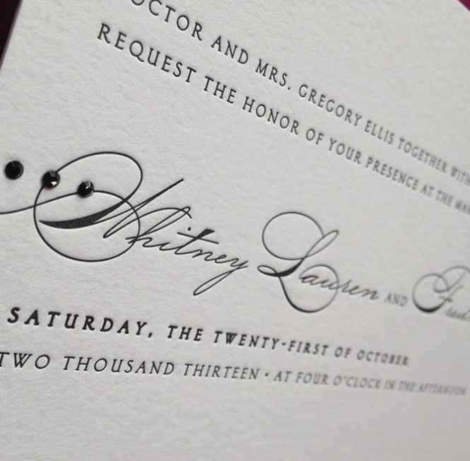Denver Stationery Wedding Invites Custom Invitations