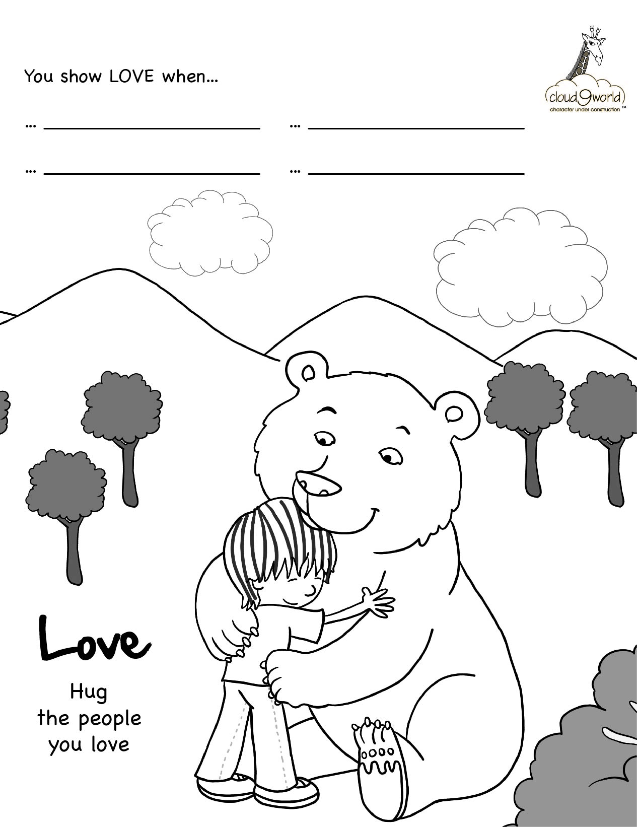 Self Control Coloring Pages Sketch Coloring Page