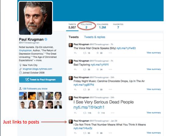 Paul Krugman Can't Tweet