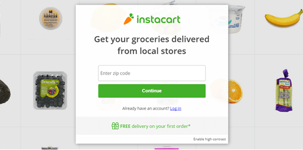 10. Tell what your business does - Instacart