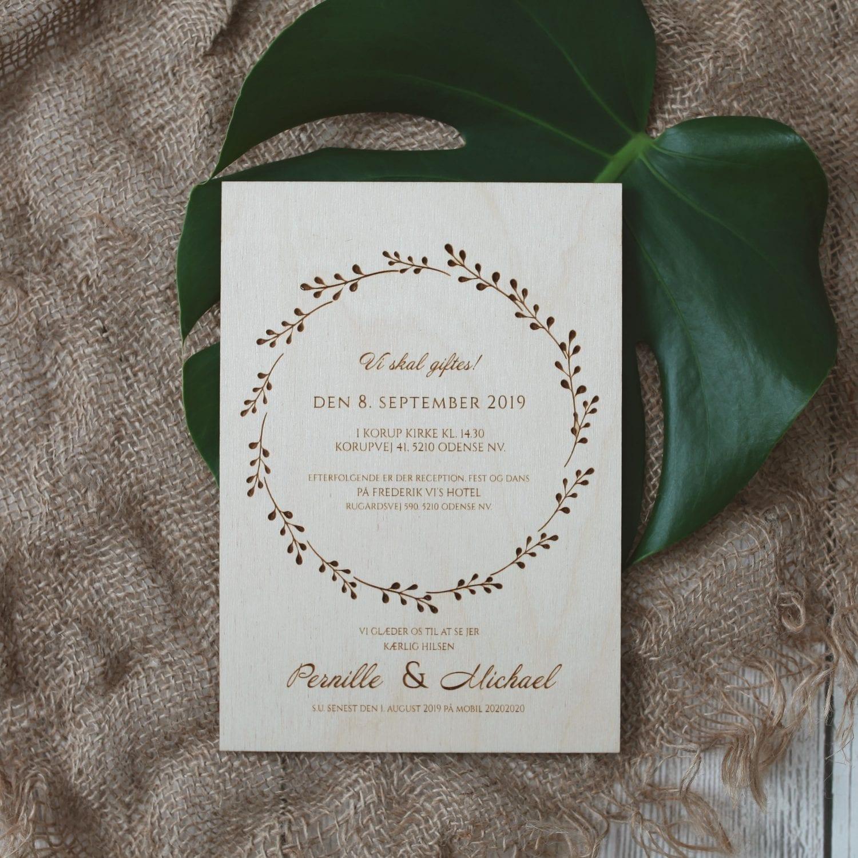 invitation i træ