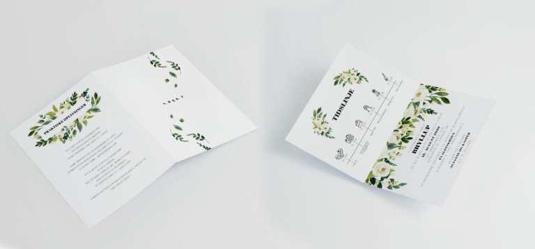 Go traditional A4 invitation