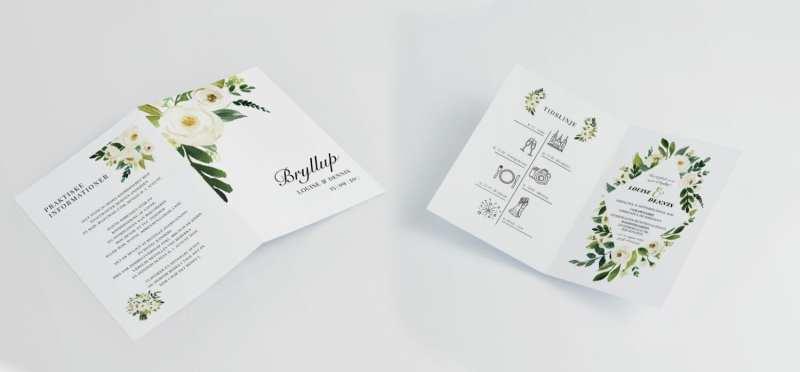 Flower frame A4 invitation