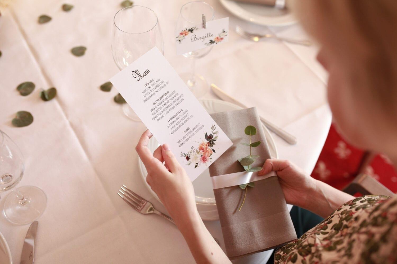 Cloud Celebration Placering af menukort Inspiration