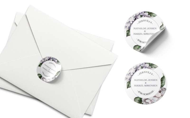 klistermærker til bryllup