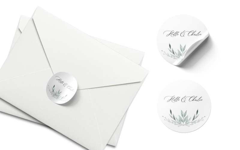 afsender stickers til kuvert