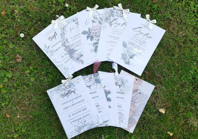 kalkerinvitationer til bryllup, design selv