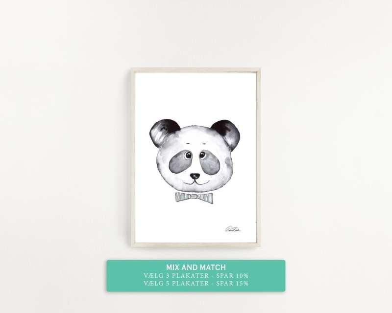 plakat til børneværelset, panda