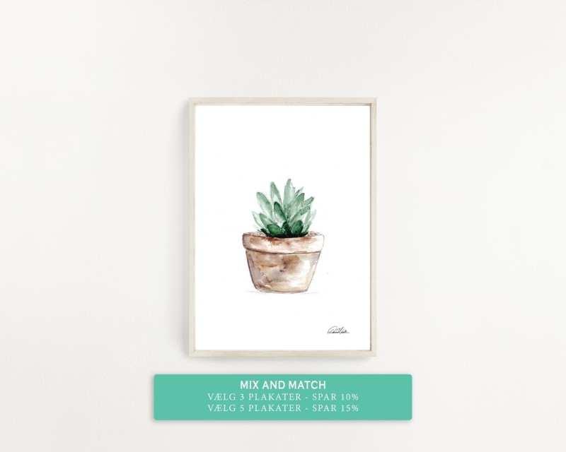 plakat med grøn plante